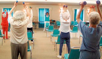 Seniors Exercising \